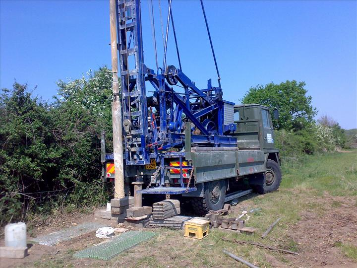 45 METRE DEEP BOREHOLE FOR PIGS .BURY ST EDMUNDS SUFFOLK